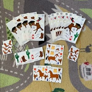 Other - Horse & Cowboy Stickers Set